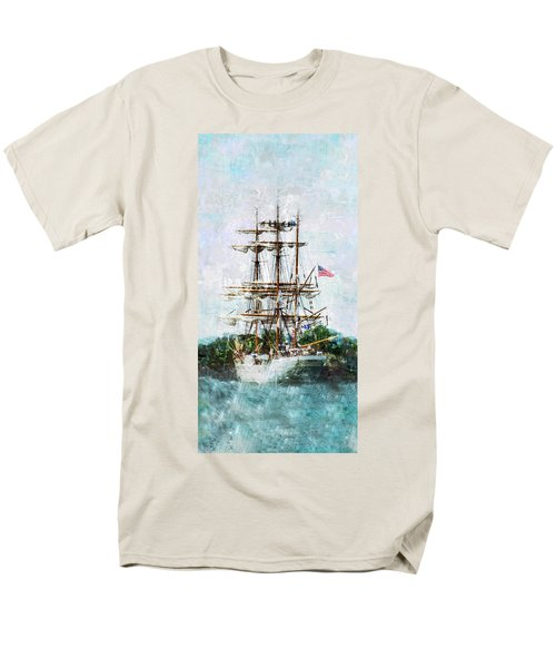 Tall Ship Eagle Has Landed Men's T-Shirt  (Regular Fit) by Marianne Campolongo