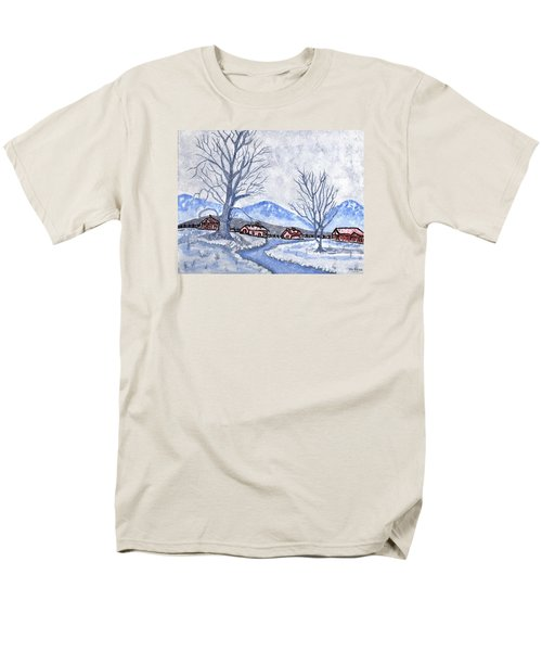 Men's T-Shirt  (Regular Fit) featuring the painting The Farm Life by Connie Valasco