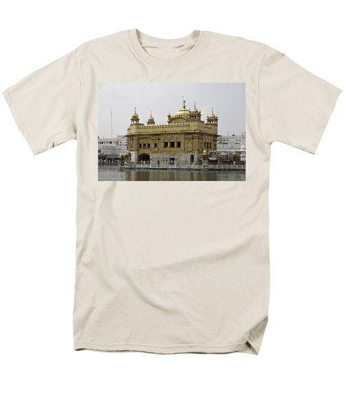 The Golden Temple In Amritsar Men's T-Shirt  (Regular Fit)