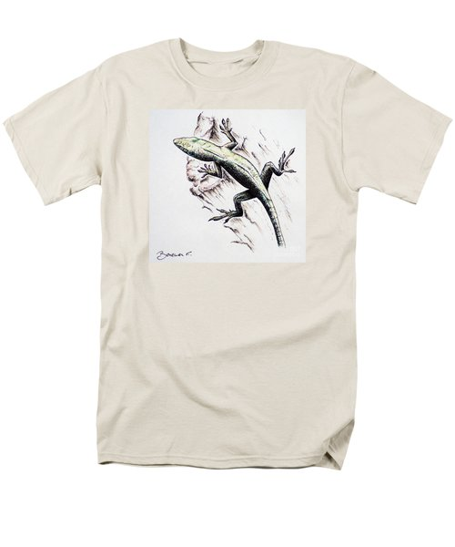 The Green Lizard Men's T-Shirt  (Regular Fit) by Katharina Filus