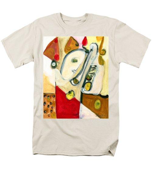 The Horn Player Men's T-Shirt  (Regular Fit) by Stephen Lucas