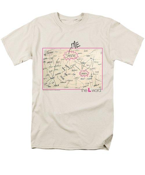 The L Word - Chart Men's T-Shirt  (Regular Fit)