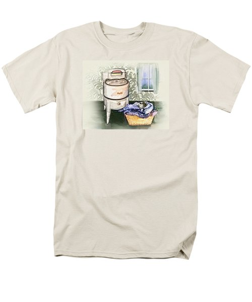 Men's T-Shirt  (Regular Fit) featuring the digital art The Laundry Room by Mary Almond