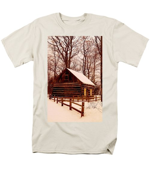 The Log Cabin At Old Mission Point Men's T-Shirt  (Regular Fit) by Daniel Thompson