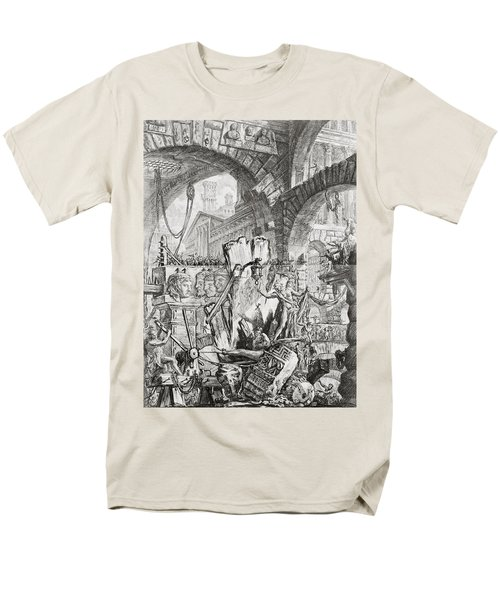 The Man On The Rack Plate II From Carceri D'invenzione Men's T-Shirt  (Regular Fit) by Giovanni Battista Piranesi