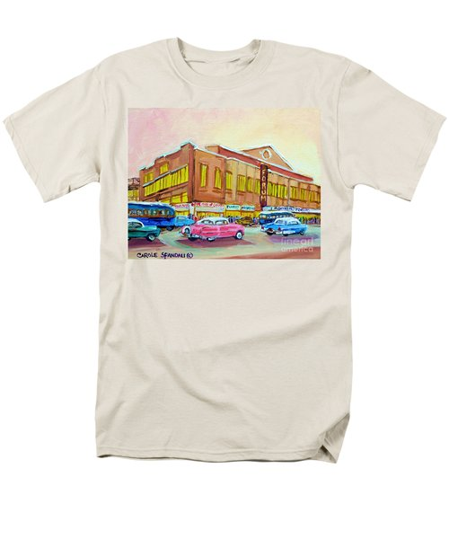 The Montreal Forum Men's T-Shirt  (Regular Fit) by Carole Spandau