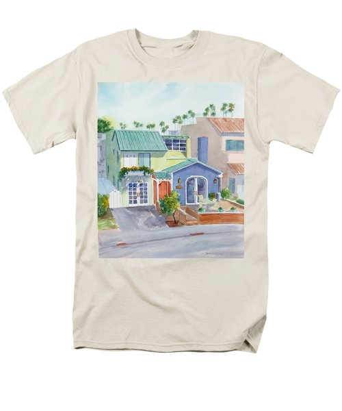 The Most Colorful Home In Belmont Shore Men's T-Shirt  (Regular Fit) by Debbie Lewis