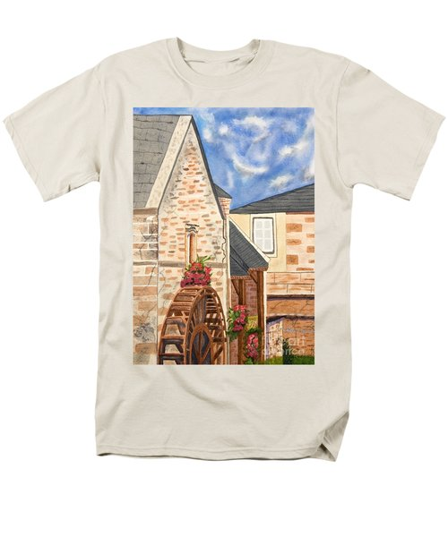 The Old French Mill Watercolor Art Prints Men's T-Shirt  (Regular Fit) by Valerie Garner