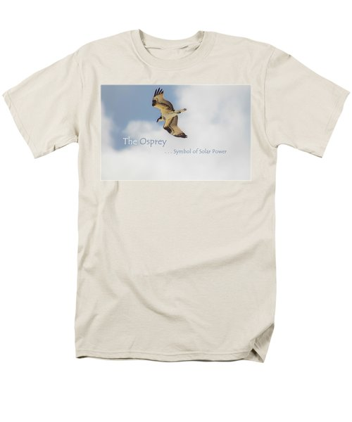 Men's T-Shirt  (Regular Fit) featuring the photograph The Osprey by DigiArt Diaries by Vicky B Fuller