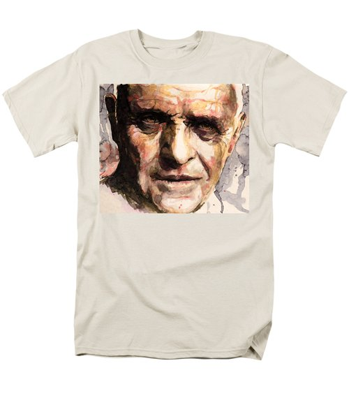 Men's T-Shirt  (Regular Fit) featuring the painting The Silence Of The Lambs by Laur Iduc