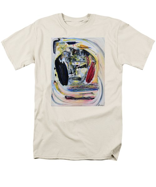 Men's T-Shirt  (Regular Fit) featuring the painting The Vision Of Ironstar by Kicking Bear  Productions