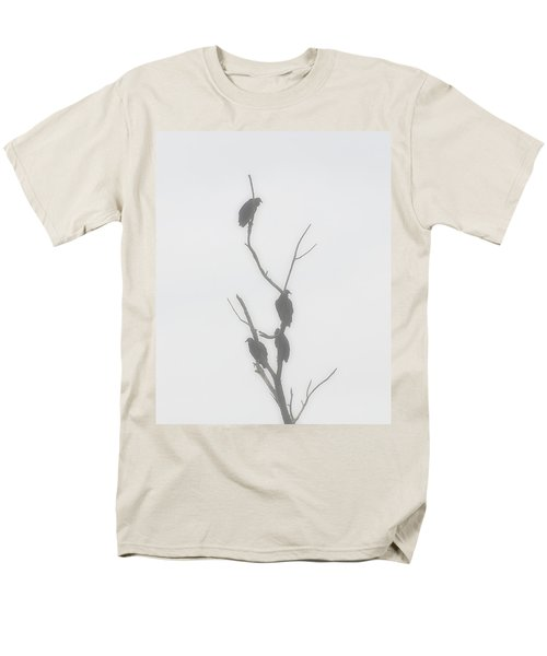 Their Waiting Four Black Vultures In Dead Tree Men's T-Shirt  (Regular Fit) by Chris Flees