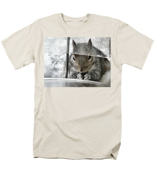 Thief In The Birdfeeder Men's T-Shirt  (Regular Fit) by Rory Sagner