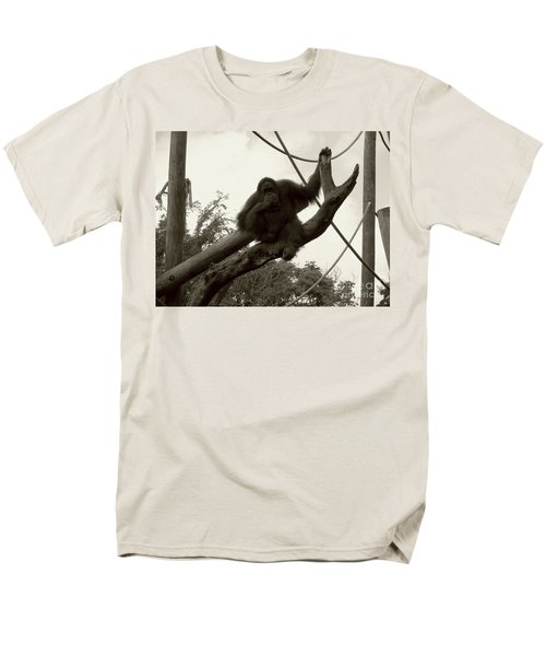 Men's T-Shirt  (Regular Fit) featuring the photograph Thinking Of You Sepia by Joseph Baril