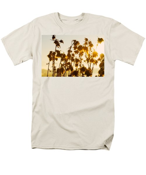 Men's T-Shirt  (Regular Fit) featuring the photograph Thistles In The Sunset by Chevy Fleet