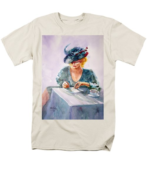 Men's T-Shirt  (Regular Fit) featuring the painting Thoughtful... by Faruk Koksal