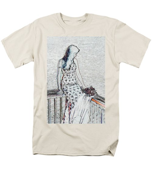 Thoughtful Men's T-Shirt  (Regular Fit) by Leticia Latocki
