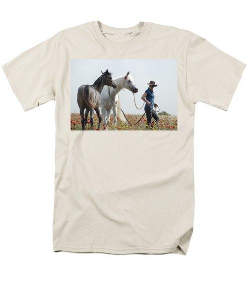 Three At The Poppies' Field... 1 Men's T-Shirt  (Regular Fit) by Dubi Roman