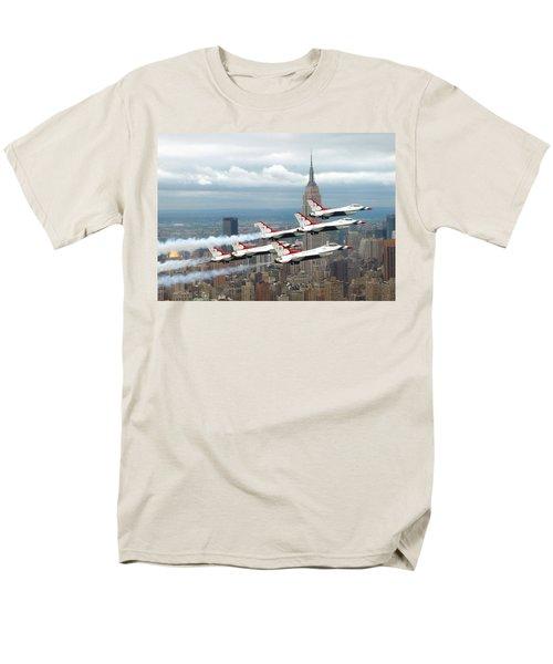 Thunderbirds Over New York City Men's T-Shirt  (Regular Fit) by U S A F