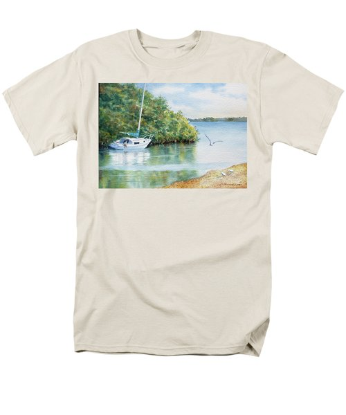 Men's T-Shirt  (Regular Fit) featuring the painting Tide's Out by Roger Rockefeller