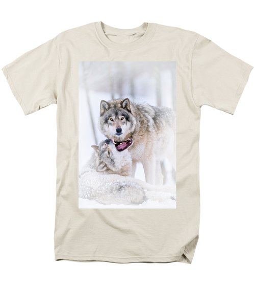 Timber Wolf Pictures 56 Men's T-Shirt  (Regular Fit) by Wolves Only