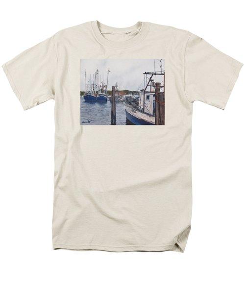Trawlers At Gosman's Dock Montauk Men's T-Shirt  (Regular Fit) by Barbara Barber
