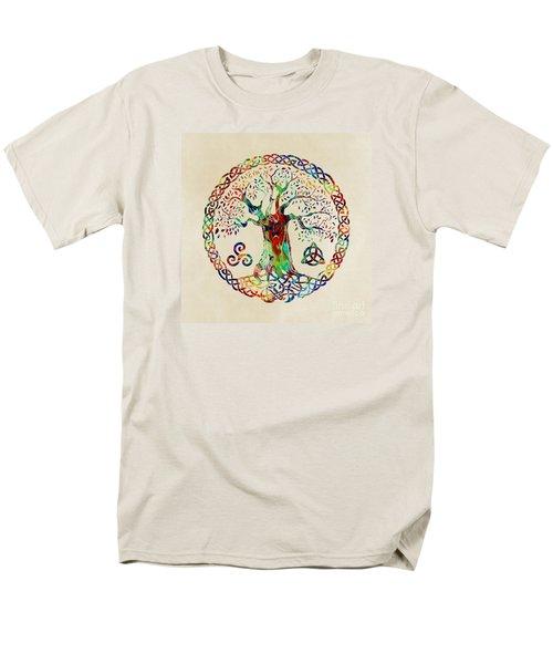 Tree Of Life Men's T-Shirt  (Regular Fit) by Olga Hamilton