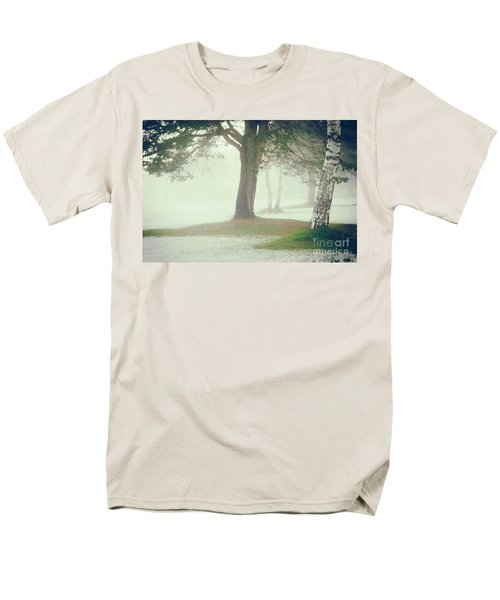 Men's T-Shirt  (Regular Fit) featuring the photograph Trees In Fog by Silvia Ganora