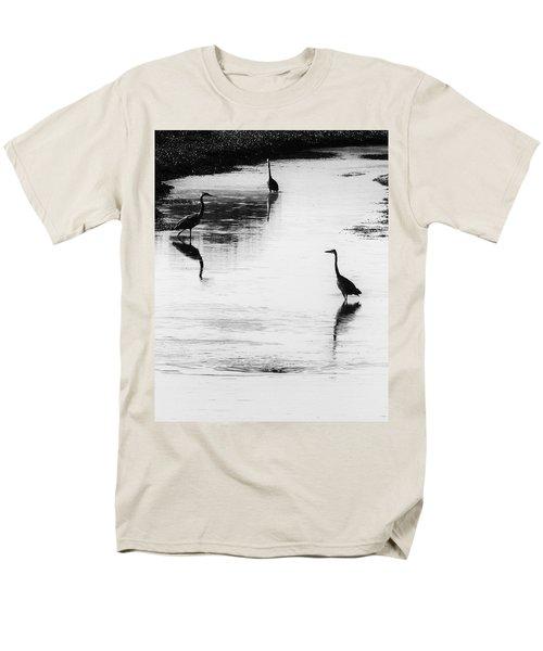 Trilogy - Black And White Men's T-Shirt  (Regular Fit) by Belinda Greb