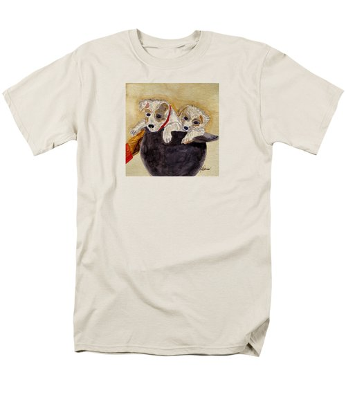 Men's T-Shirt  (Regular Fit) featuring the painting Trump And Tillie by Angela Davies