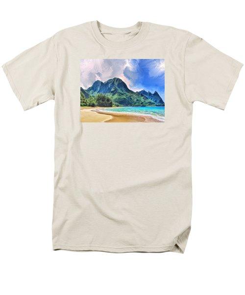 Tunnels Beach Kauai Men's T-Shirt  (Regular Fit) by Dominic Piperata