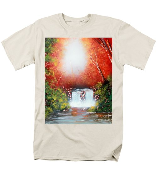 Twin Falls  Men's T-Shirt  (Regular Fit) by Greg Moores