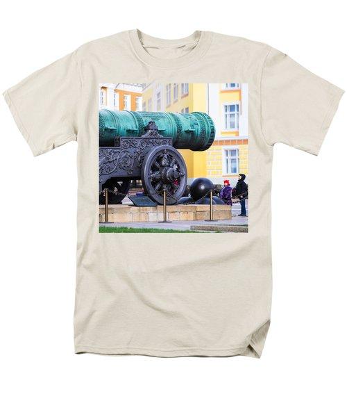 Tzar Cannon Of Moscow Kremlin - Square Men's T-Shirt  (Regular Fit) by Alexander Senin
