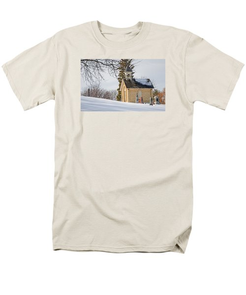 Union Cemetery Chapel Men's T-Shirt  (Regular Fit) by Susan  McMenamin
