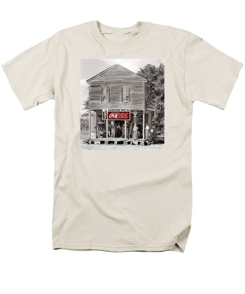 U.s. Post Office General Store Coca-cola Signs Sprott  Alabama Walker Evans Photo C.1935-2014. Men's T-Shirt  (Regular Fit) by David Lee Guss