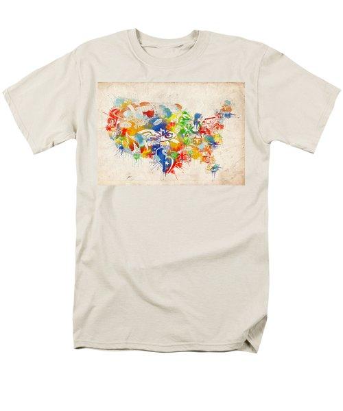 Usa Nfl Map Collage 12 Men's T-Shirt  (Regular Fit) by Bekim Art