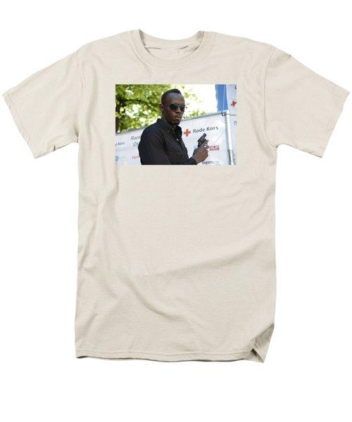 Men's T-Shirt  (Regular Fit) featuring the photograph Usain Bolt - The Legend 4 by Teo SITCHET-KANDA