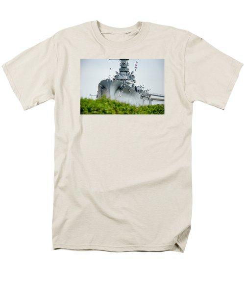 Men's T-Shirt  (Regular Fit) featuring the photograph Uss Alabama 2 by Susan  McMenamin