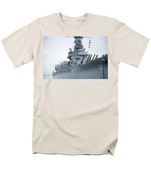Men's T-Shirt  (Regular Fit) featuring the photograph Uss Alabama 3 by Susan  McMenamin