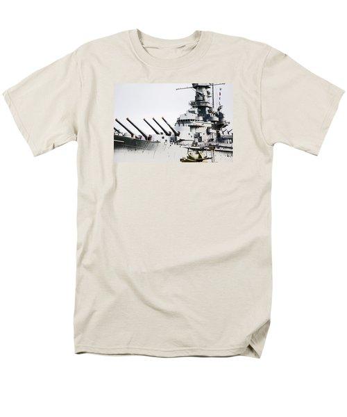 Men's T-Shirt  (Regular Fit) featuring the photograph Uss Alabama by Susan  McMenamin