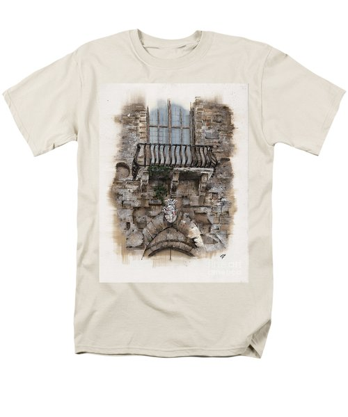 Venetian Balcony 02 Elena Yakubovich Men's T-Shirt  (Regular Fit) by Elena Yakubovich