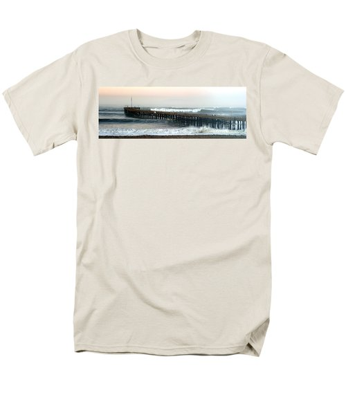Men's T-Shirt  (Regular Fit) featuring the photograph Ventura Storm Pier by Henrik Lehnerer