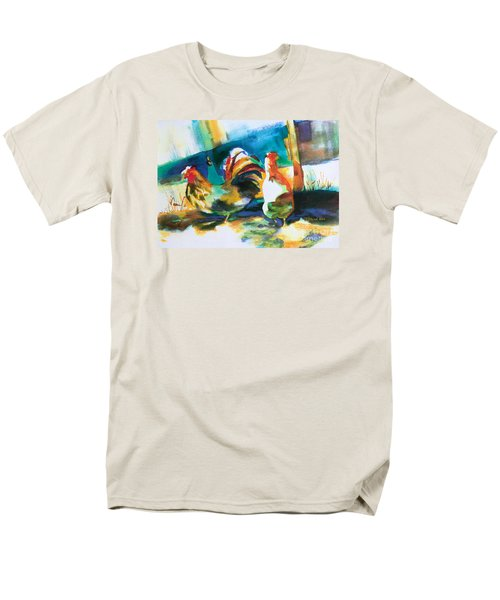 Men's T-Shirt  (Regular Fit) featuring the painting Veridian Chicken by Kathy Braud