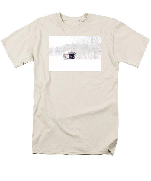 Vermont Covered Bridge Men's T-Shirt  (Regular Fit) by Marcia Lee Jones