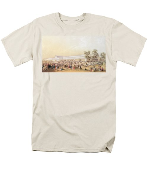 View Of The Crystal Palace Men's T-Shirt  (Regular Fit) by George Baxter