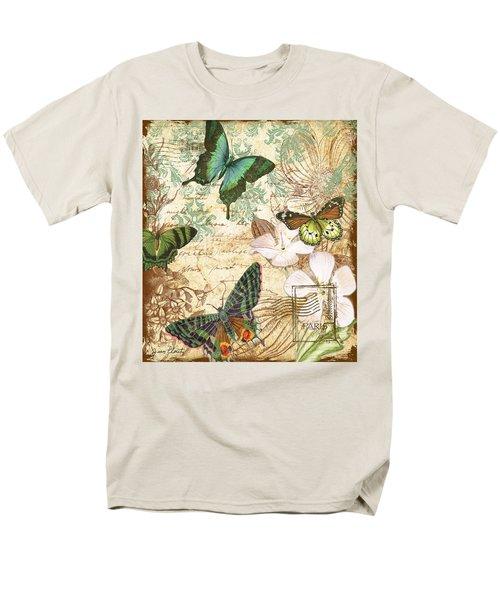 Vintage Butterfly Kisses  Men's T-Shirt  (Regular Fit) by Jean Plout