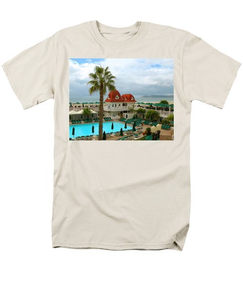 Vintage Cabana At The Del Men's T-Shirt  (Regular Fit) by Connie Fox