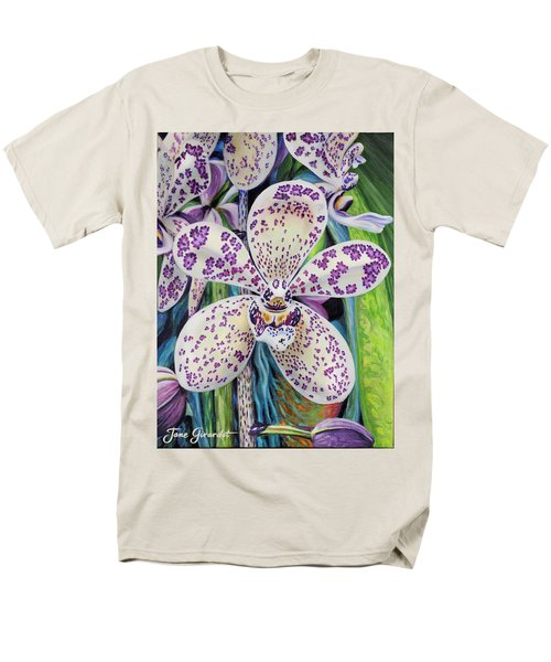 Violet Dotted Orchid Men's T-Shirt  (Regular Fit) by Jane Girardot