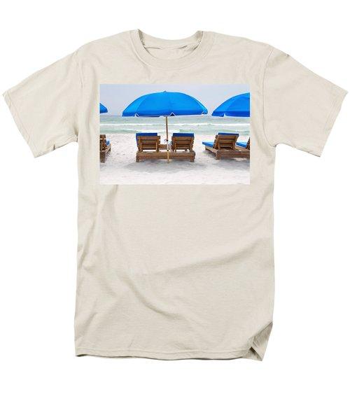 Men's T-Shirt  (Regular Fit) featuring the photograph Panama City Beach Florida Empty Chairs by Vizual Studio