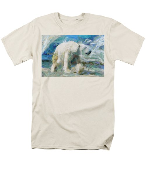 Men's T-Shirt  (Regular Fit) featuring the painting Cold As Ice by Greg Collins